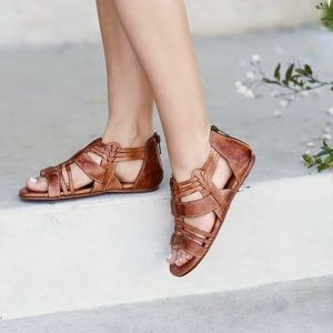 Bed Stu Cara Leather Huarache Sandals Size 8